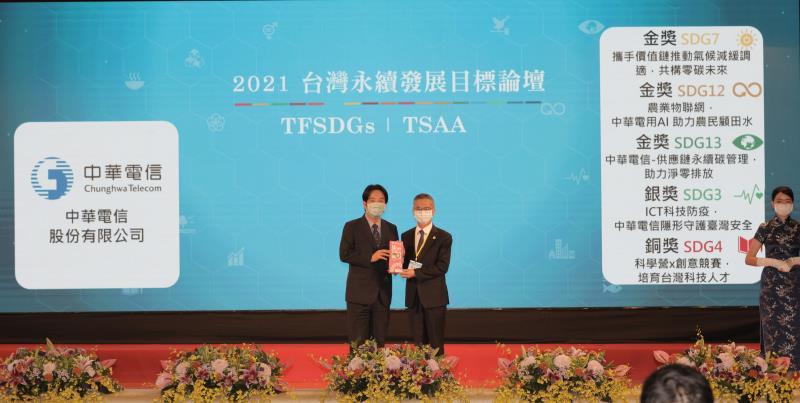 台灣永續行動獎 中華電獲三金一銀一銅高度肯定