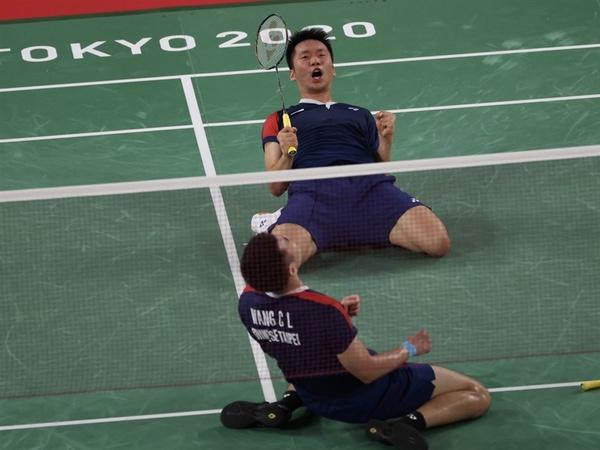 王齊麟李洋羽球男雙擊敗日本 闖進東奧4強寫下台灣第一次