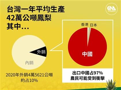 農委會:鳳梨銷中國占產量1成 拉抬國內銷量可穩價