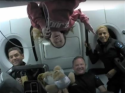 SpaceX送平民上太空進入軌道停留數天 19日返地球